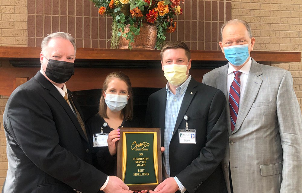 Bailey Medical Center Receives the 2020 Community Service Award from Owasso Chamber of Commerce