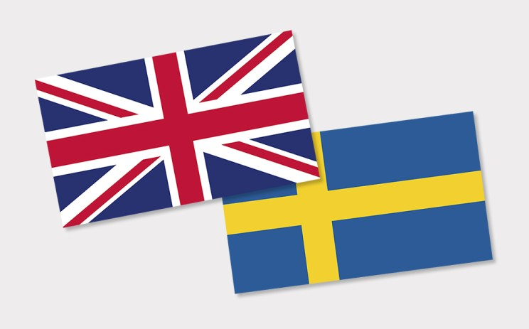 English & Swedish flag