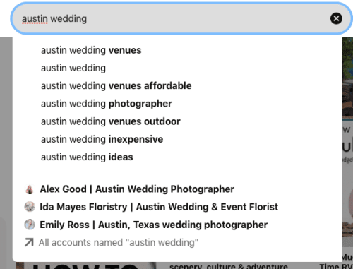pinterest search suggestions