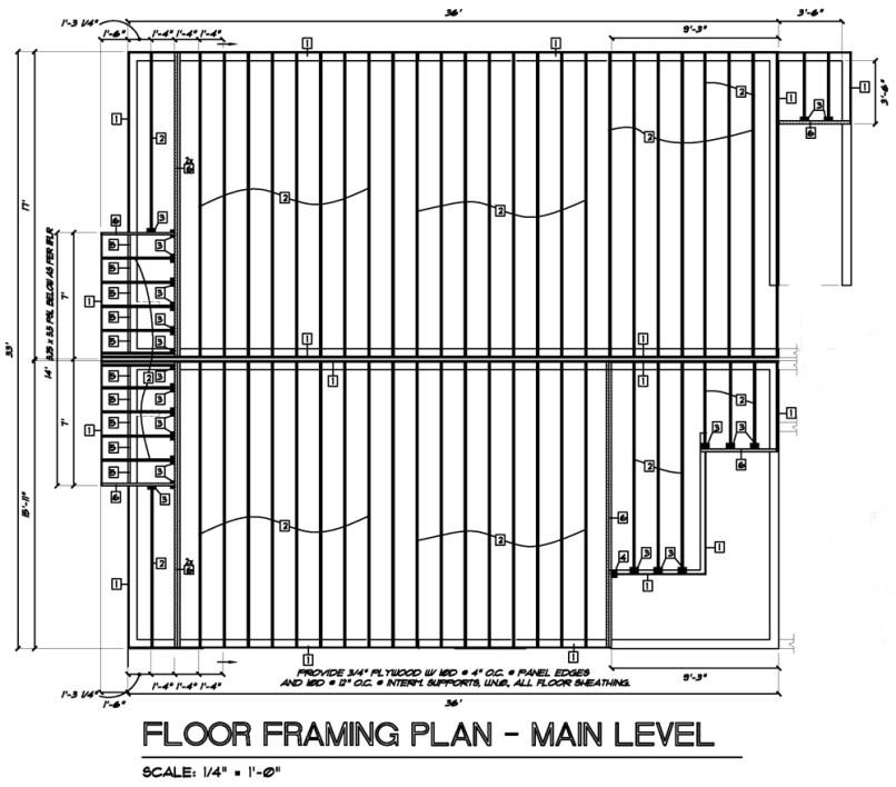 Residential roof framing design for Residential deck plans