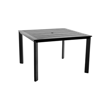 OW Lee Modern Aluminum Slatted Top Dining Table