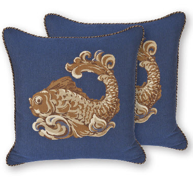 OW Lee Emblem Corsica Throw Pillow