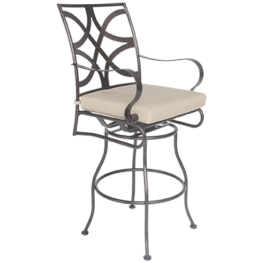 OW Lee Marquette Swivel Bar Stool With Arms