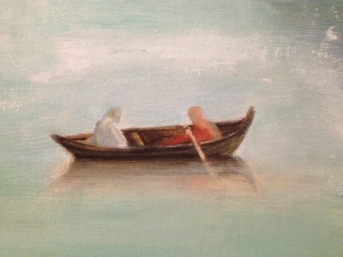 NORWAY FJORDS (Detail - Boat) by Ruth Gershbein