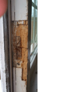 Door frame damage