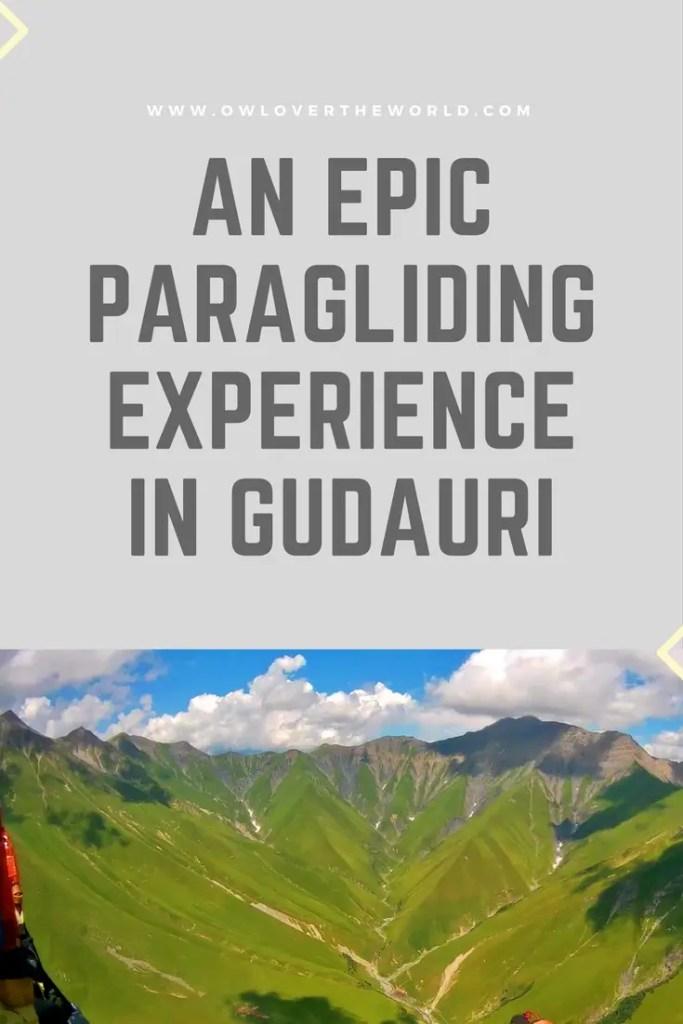 paragliding gudauri experience