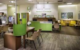 Inside view of a Pearle Vision franchise location.