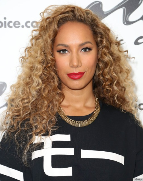 """NEW YORK, NY - DECEMBER 03: Singer-songwriter Leona Lewis visits Music Choice's """"You & A"""" at Music Choice on December 3, 2013 in New York City. (Photo by Monica Schipper/Getty Images)"""