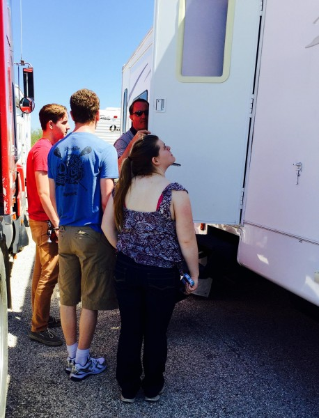 "Showing them the RV (a.k.a the ""This is why you really can't move back in with us"" tour)."