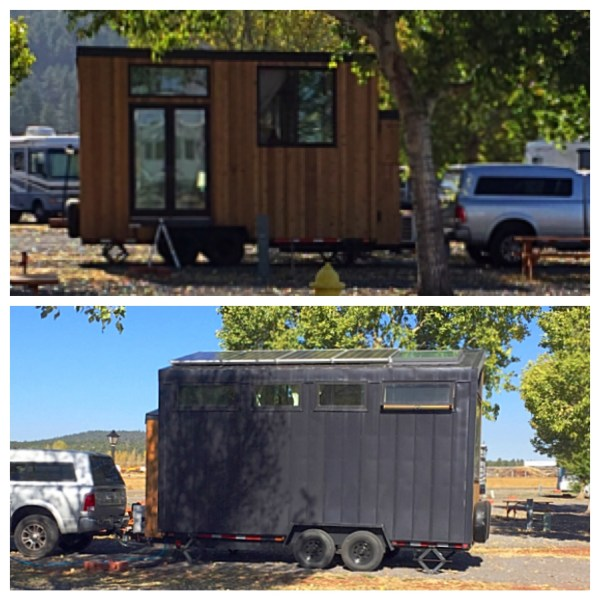 Spotted this portable tiny home in northern AZ. Check out the solar panels on the roof!