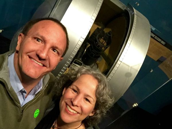 We did not get to tour the Otto Struve Telescope, so we took a selfie in front of a model of it instead. You're welcome.