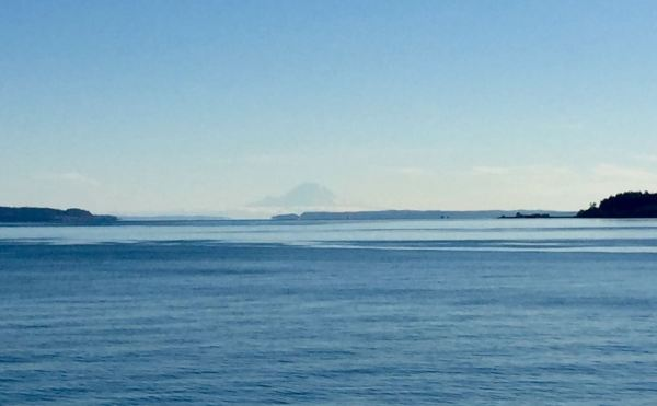 Mount Rainier, from the Coupeville - Port Townsend Ferry