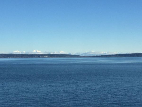 Olympic Mountains, from the Coupevdlle - Port Townsend Ferry