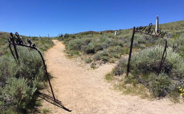 Cemetery gates...