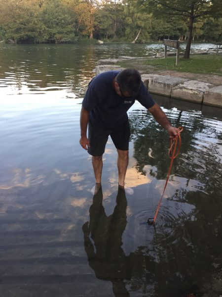 ... if we hadn't found it, we wouldn't have learned that Jay is some sort of crawdad whisperer! He unhooked the leash from one of his doggies, dangled it in the water, and used to to lead the crawdad out. I. Almost. Died.