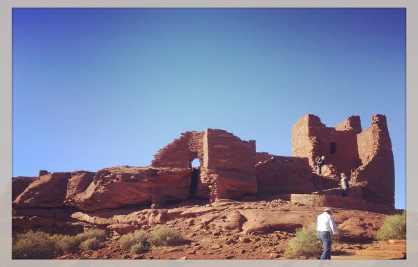 The ruins in Wupatki date back to the 1100s, and it was both warming and chilling to stand inside their walls, trying to imagine what it was like to live here. Then. This is the Wukoki Pueblo.