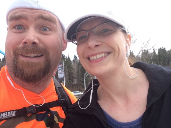 My old and dear friend Annie and me. She joined me for about 5km of my 40km run on Saturday.