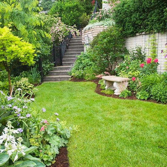 17 Hillside Landscaping Ideas to Beautify Your Hillside ... on Downward Sloping Garden Ideas id=79465