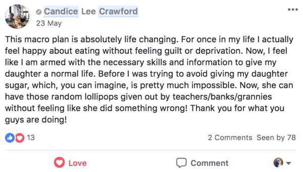 Candice testimonial
