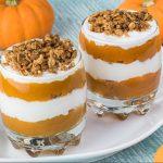 Pumpkin pie yogurt parfaits