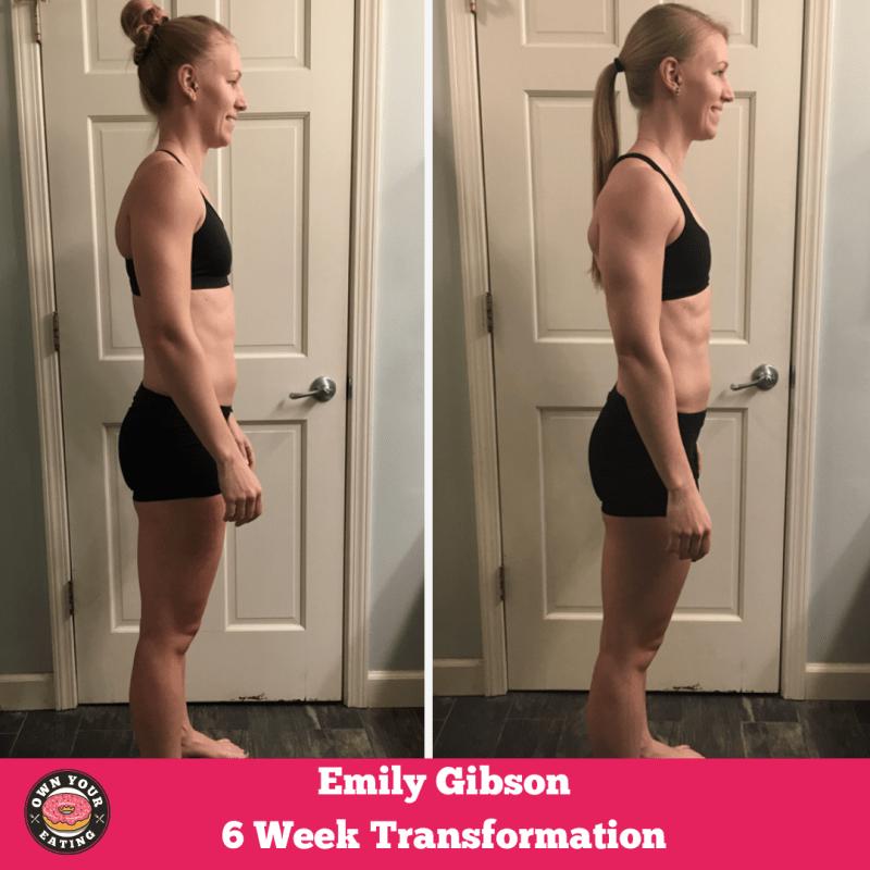 Emily Gibson Flexible eating Transformation