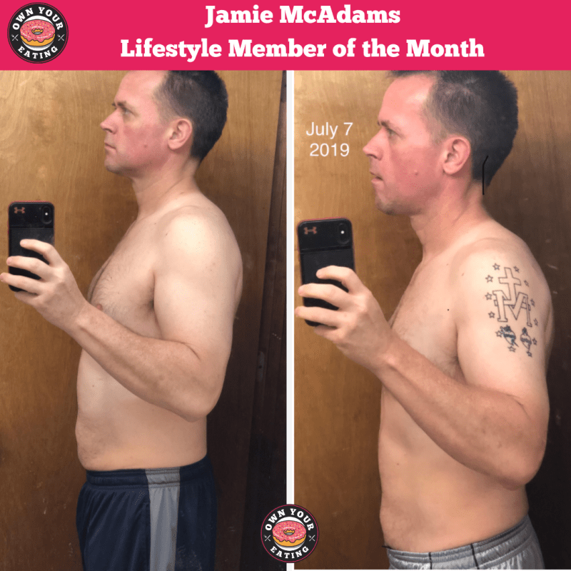 Jamie McAdams Lifestyle Member of the Month (side profile)