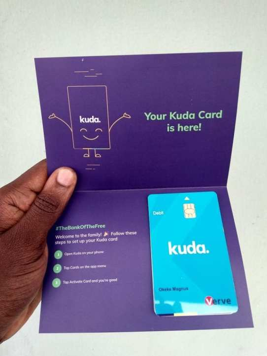 Kuda Card delivery