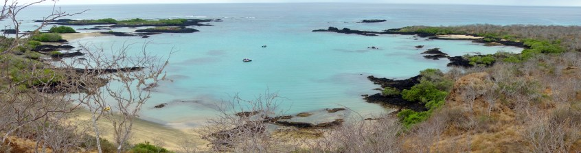Galápagos, Isla Floreana: Blick vom Baroness Viewpoint auf Post Office Bay