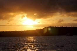 Galápagos, SouthPlaza: Einen Sonnenuntergang wie aus dem Bilderbuch