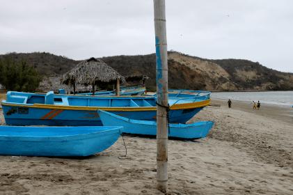 Fischeridyll am Strand von Los Frailes