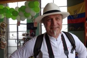 Wolfgang mit Panamahut. Diese Hüte kommen übrigens aus Cuenca in Ecuador und nicht aus Panama!