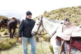 Cotopaxi Nationalpark - Wolfgang und sein Pferd