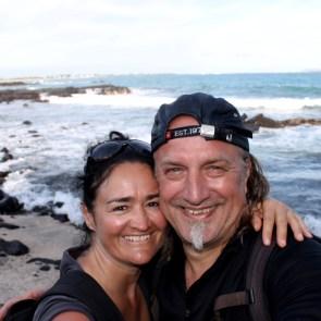 Galápagos, Santa Isabela: Selfie am Playa del Amor