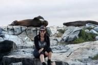 """Galápagos, SouthPlaza: Wie wenn der Seelöwe sagen wollte: """"Otti, nicht schon wieder ein Foto mit uns, Du hast doch schon so viele"""""""