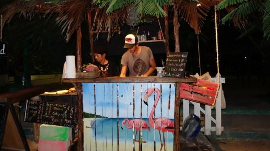 Mexico, Isla Holbox: Abendessen im kleinsten Restaurant des Städtchens