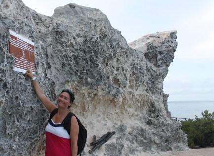 """Mexiko, Isla Mujeres Punta Sur: Acantilado del Amanecer oder """"Cliff of the Dawn"""" ist der östlichste Punkt Mexikos"""