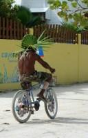 Belize, Caye Caulker: Fahrräder oder Golf-Carts sind das Fortbewegungsmittel auf der Insel