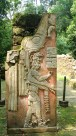 Palenque: Reliefplatte im Templo XIX