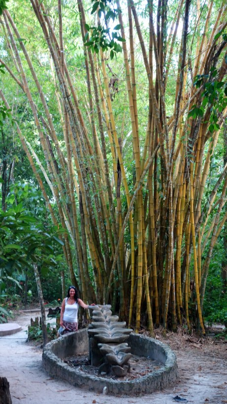 Palenque, El Panchan: Wasser-Skulptur