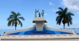 Campeche: Denkmal an den ersten christlichen Gottesdienst am 22. März 1517 auf dem amerikanischen Festland