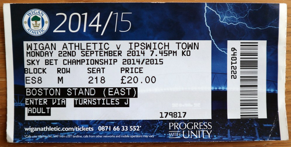 140922_wigan_ipswich_biljett