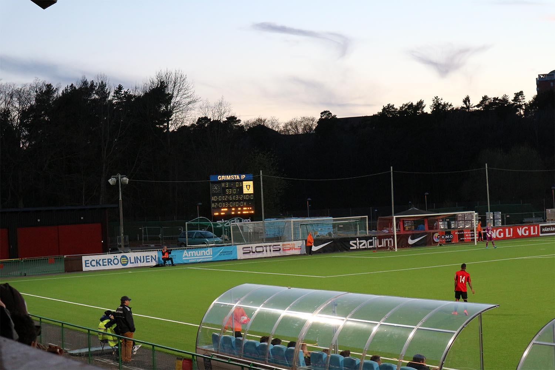 Arena  Grimsta IP Match  Division 1 norra. Publik  1 696. Målen  1-0 (43)  Markus Gustafsson e10274bfbc55e