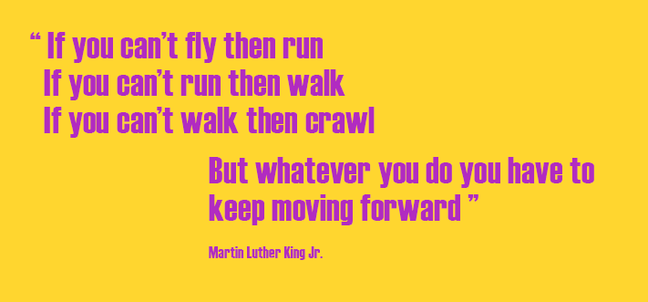If you can't fly then run - Martin Luther King Jr Quote