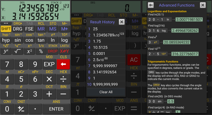 RealCalc student apps