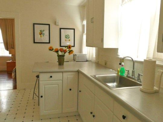 Kitchen, Apartment 1707, Oxford Property Management, Berkeley CA