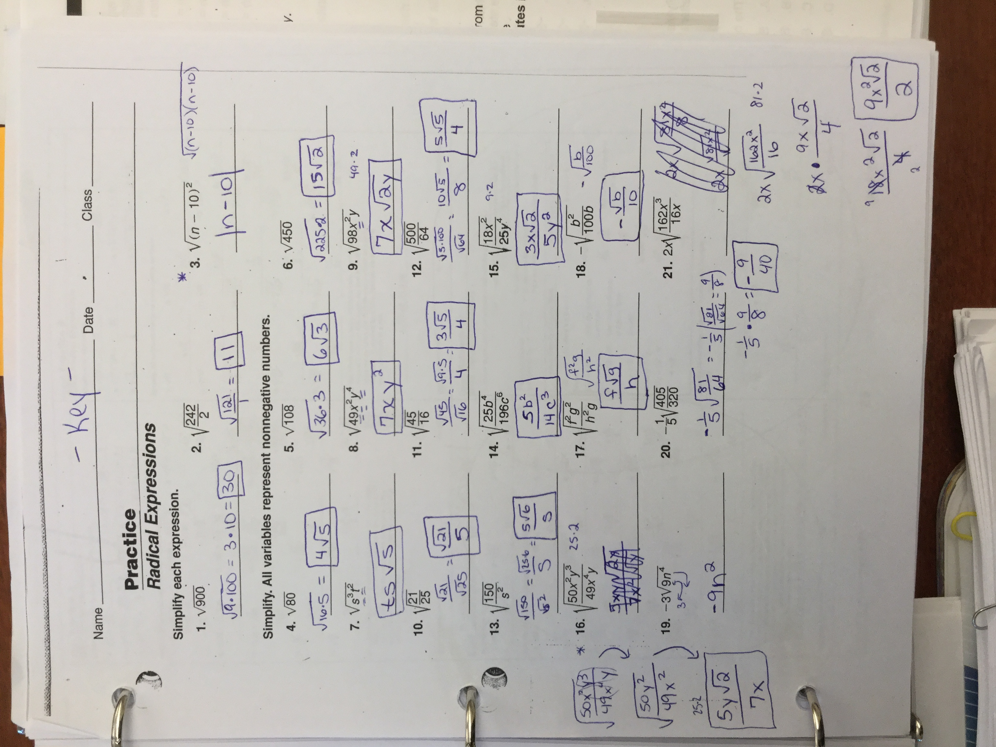 Rational Exponents And Radicals Module 14 Answer Key