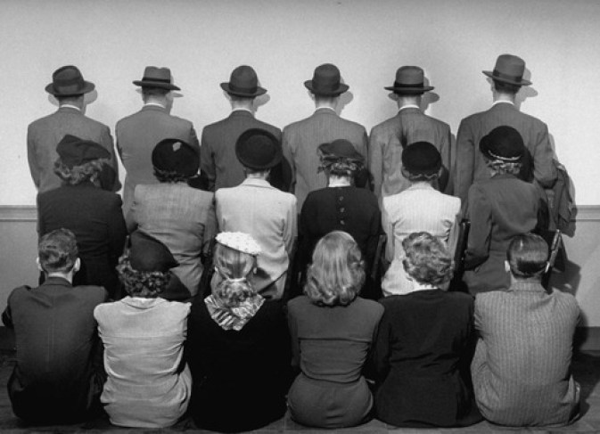 Store detectives in Macy's department store in 1948. Their backs are turned so you won't recognise them...