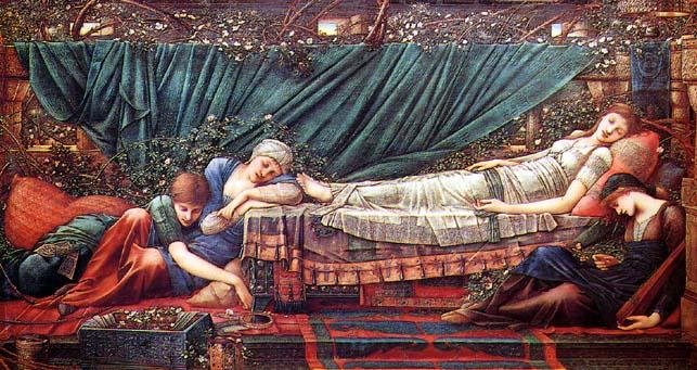 Briar Rose by Edward Burne Jones.