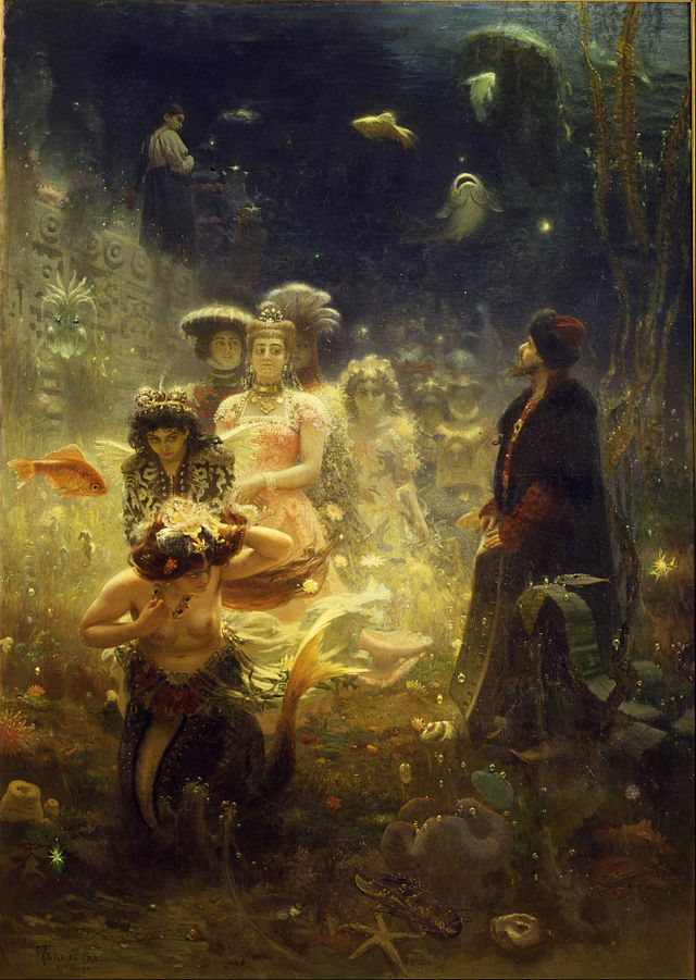 Sadko In The Underwater Kingdom by Ilya Repin