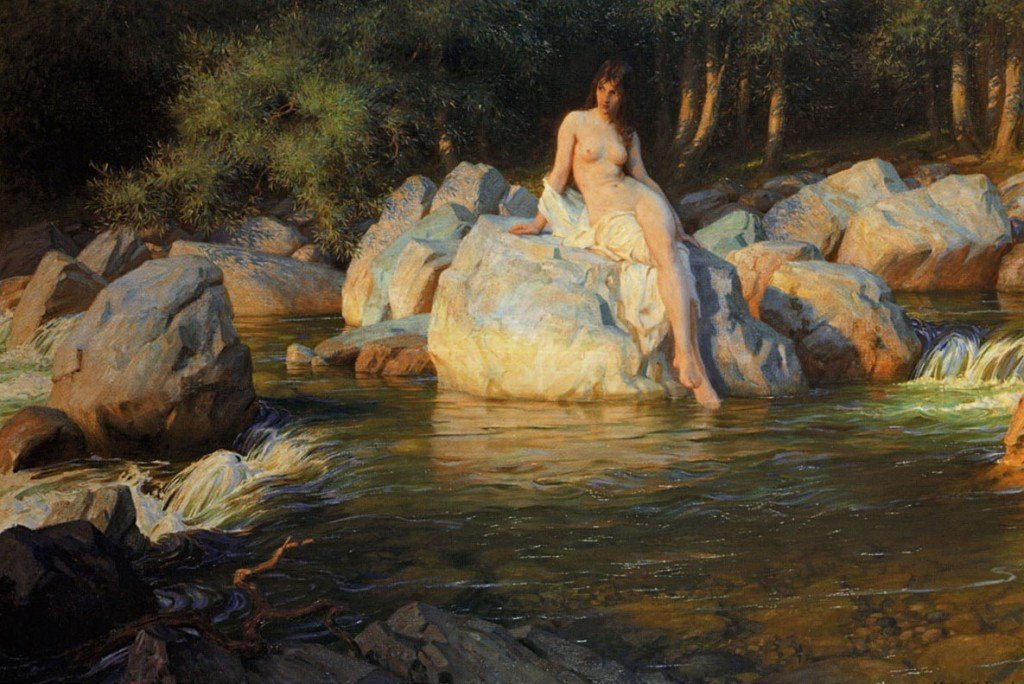 The Kelpie by Herbert James Draper, 1913